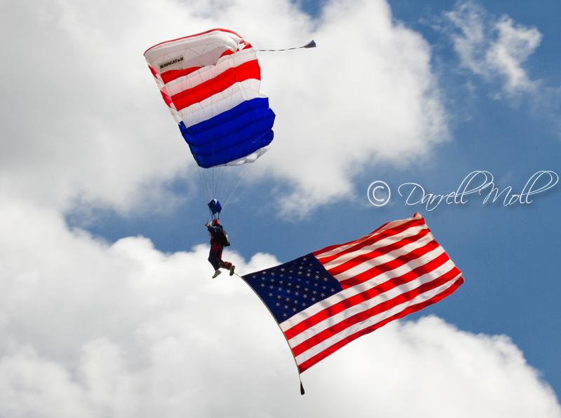 Patriotic Skydiver