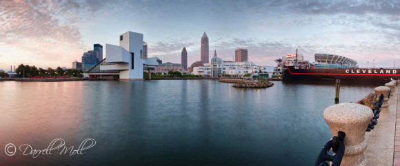 Downtown Cleveland at Sunrise