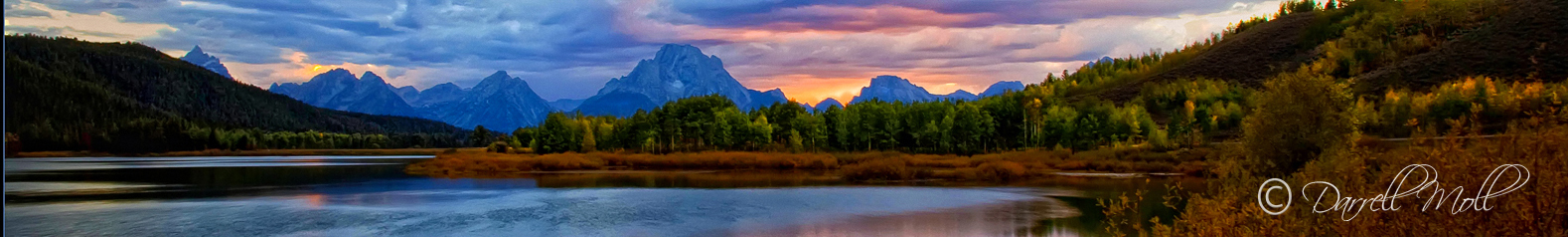 Sunset Ox Bow Bend-Grand Tetons, WY